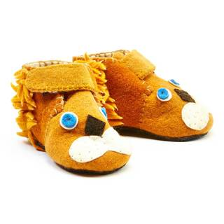 Handmade Felt Lion Zooties Toddler Booties (Kyrgyzstan)