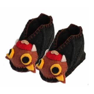 Handmade Felt Bat Zooties Baby Booties (Kyrgyzstan)
