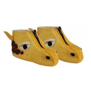 Handcrafted Felt Giraffe Zooties Kids Slippers (Kyrgyzstan)