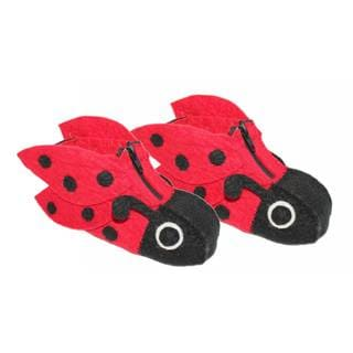 Handcrafted Felt Ladybug Zooties Kids Slippers (Kyrgyzstan)