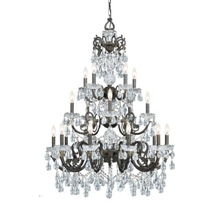 Crystorama Legacy Collection 20-light English Bronze/Crystal Chandelier