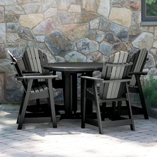 Hamilton Two-Tone 5pc Round Counter Height Dining Set