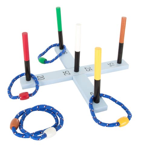 Hey! Play! Rope Ring Toss Game - Multicolor - 16.25 x 16.25 x 8.5