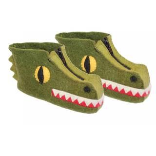 Handcrafted Felt Alligator Zooties Kids Slippers (Kyrgyzstan)