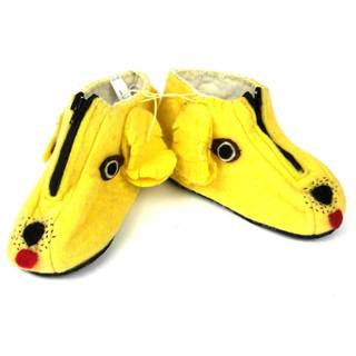 Handcrafted Felt Golden Retriever Zooties Kids Slippers (Kyrgyzstan)