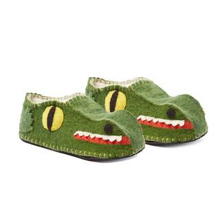Handcrafted Felt Alligator Zooties Adult Slippers (Kyrgyzstan)