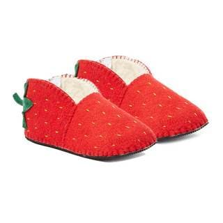 Handcrafted Felt Strawberry Zooties Adult Slippers (Kyrgyzstan)