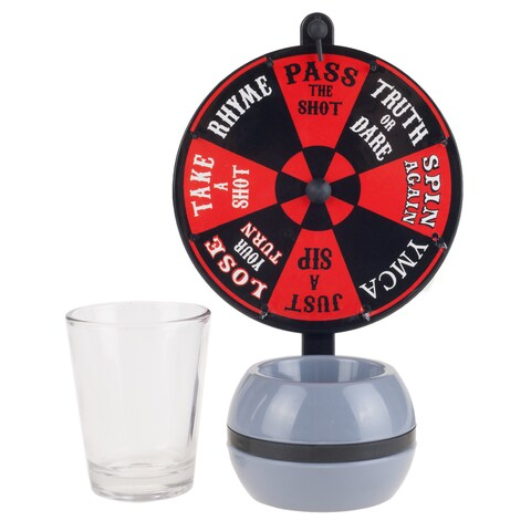 Spin the Wheel Shot Drinking Game - Fun Adult Party College Shot Glass Spinner Game by Hey! Play!