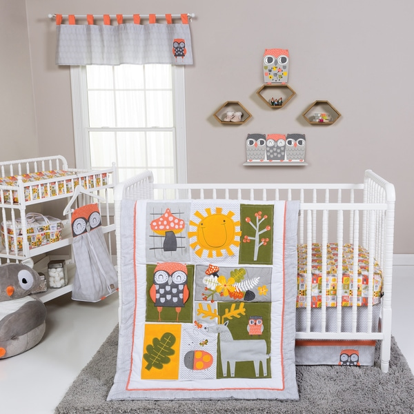 Trend Lab Olive Owl 5-piece Crib Bedding Set