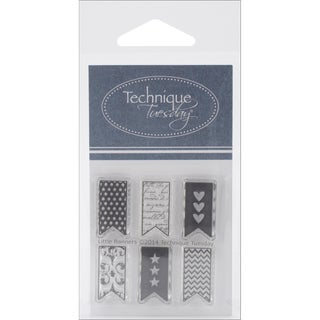 Technique Tuesday Clear Stamps 2X2.5-Little Banners