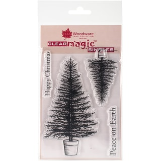 """Woodware Clear Stamps 3.5""""X5.5""""-Traditional Tree"""