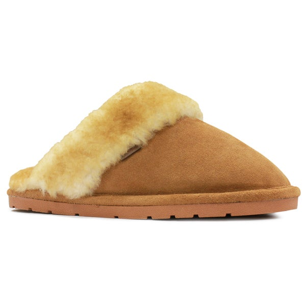 76d4e28d15cf7 Shop Lamo Ladies  Scuff Slippers with Hard Sole - Free Shipping Today -  Overstock.com - 14450824