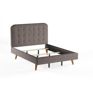 Simple Living Garbo Mid Century Upholstered Queen Bed