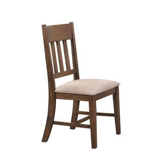 Acme Furniture Ulysses Cream Fabric and Weathered Oak Dining Chair (Set of 2)