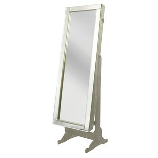 Chic Home Daze Jewelry Armoire Cheval Mirror, Full-length, Royal Champagne - A/N