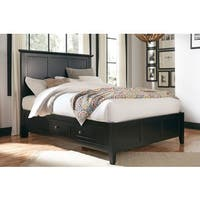 Paragon Four Drawer Storage Bed in Black
