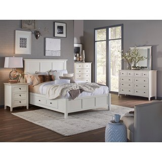 Paragon Four Drawer Storage Bed in White