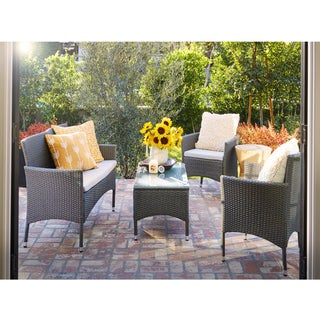 angelo:HOME 4-Piece Patio Chat Set - Grey