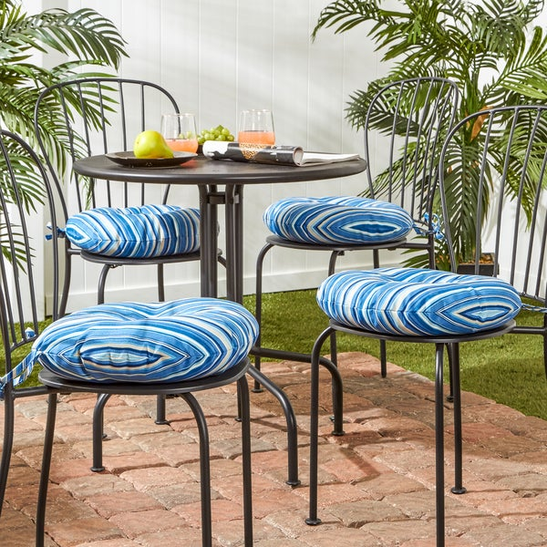 Shop Havenside Home Colton 16 Inch Outdoor Round Stripe Bistro Chair