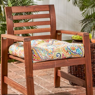 Porch & Den Rosewood Zaragosa Painted Paisley 20-inch Outdoor Chair Cushion
