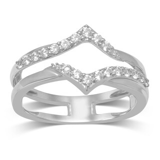 Unending Love 14k Gold 1/3ct TDW Diamond Wrap Guard Ring