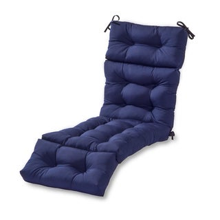 Havenside Home Driftwood Outdoor Chaise Lounger Cushion (Navy)