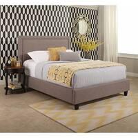 Abbyson Natalie Grey upholstery Platform Bed