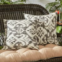 Greendale Home Fashions Coastal Ikat Outdoor Accent Pillow, Set of 2 - 17w x 17l