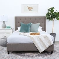 Abbyson Carter Tufted Upholstery Platform Bed