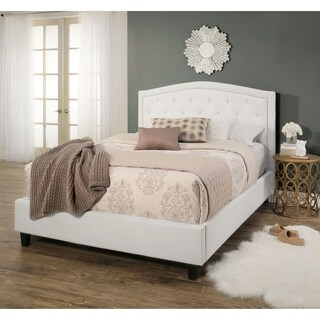 Abbyson Hampton Ivory Tufted Upholstery Platform Bed (3 options available)