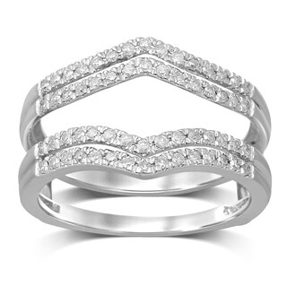 Unending Love 14k Gold 1/3ct TDW Diamond Anniversary Wedding Band Enhancer Guard