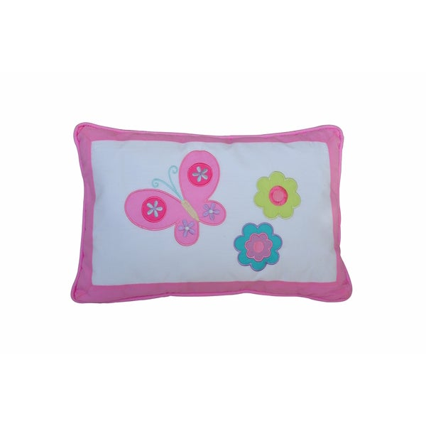 Butterfly Flower Decorative Throw Pillow