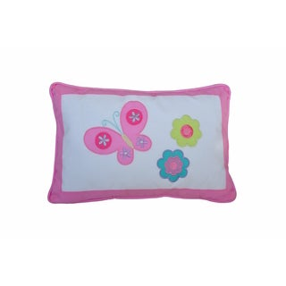 Butterfly Flower Decorative Throw Pillow