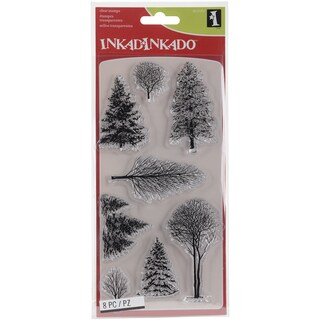 "Inkadinkado Clear Stamps 4""X8""-Woodland Wonderland"