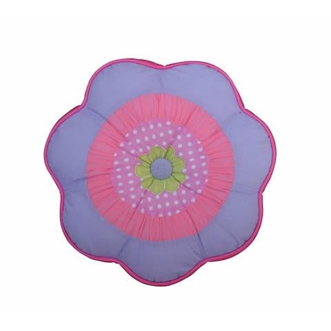 Blossom Round Flower Decorative Throw Pillow