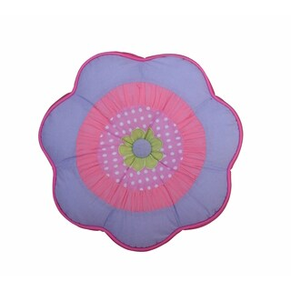 Blossom Round Flower Decorative Throw Pillow