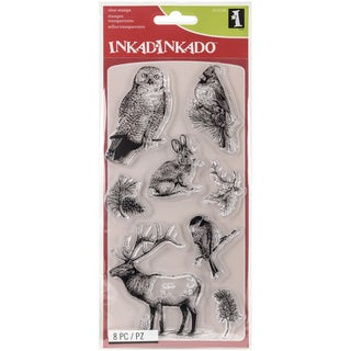 "Inkadinkado Clear Stamps 4""X8""-Winter Wildlife"