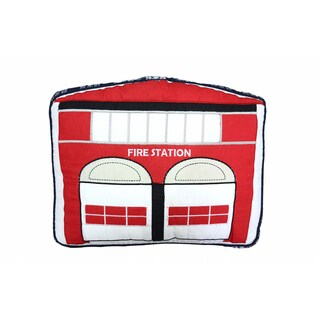 Fire Station Decorative Throw Pillow