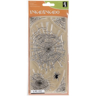 "Inkadinkado Clear Stamps 4""X8""-Spider Webs"