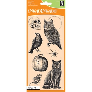 "Inkadinkado Clear Stamps 4""X8""-Creatures Of The Night"