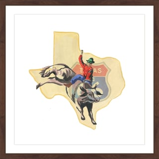 Marmont Hill - 'Hold on Texas' Framed Painting Print