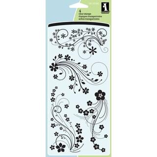 """Inkadinkado Clear Stamps 4""""X8""""-Mod Flower Flourish"""