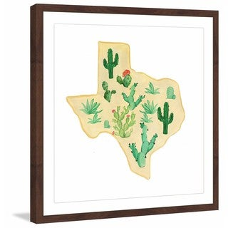 Marmont Hill - 'Texas Cactus' Framed Painting Print