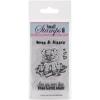 "Hot Off The Press Acrylic Stamps 2.5""X3""-Small Hugs & Kisses"