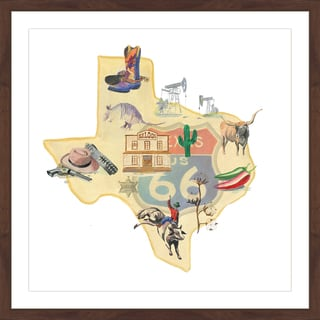 Marmont Hill - 'It's All Texas' Framed Painting Print