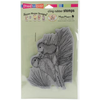 Stampendous House Mouse Cling Stamp 4X5-Birdie Bow