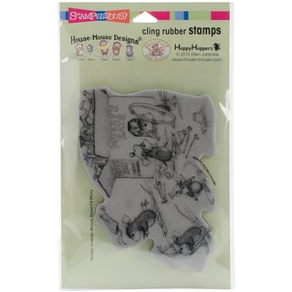 Stampendous House Mouse Cling Stamp 4X5-Hat Box