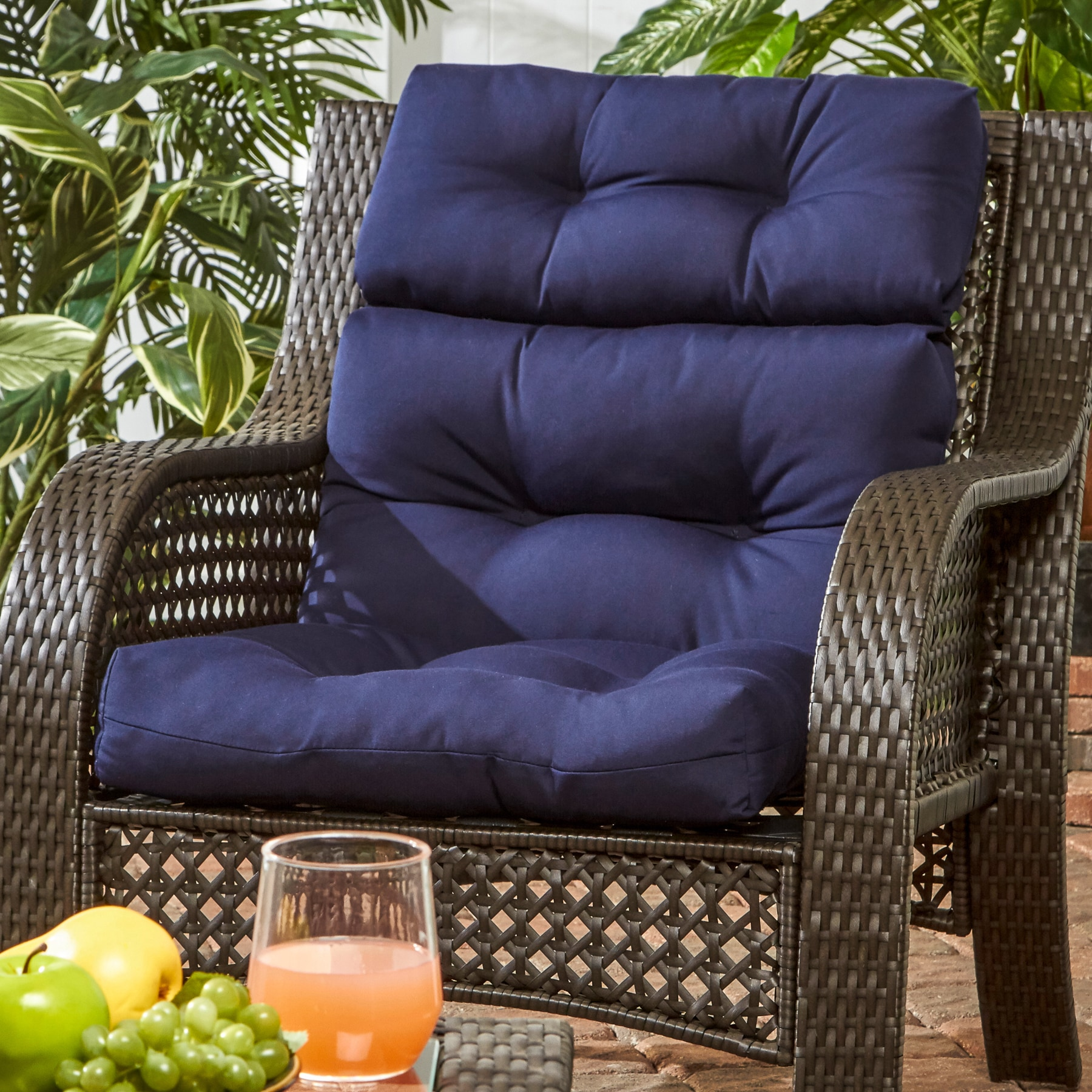 Greendale Home Fashions Outdoor High Back Chair Cushion   22w X 44l