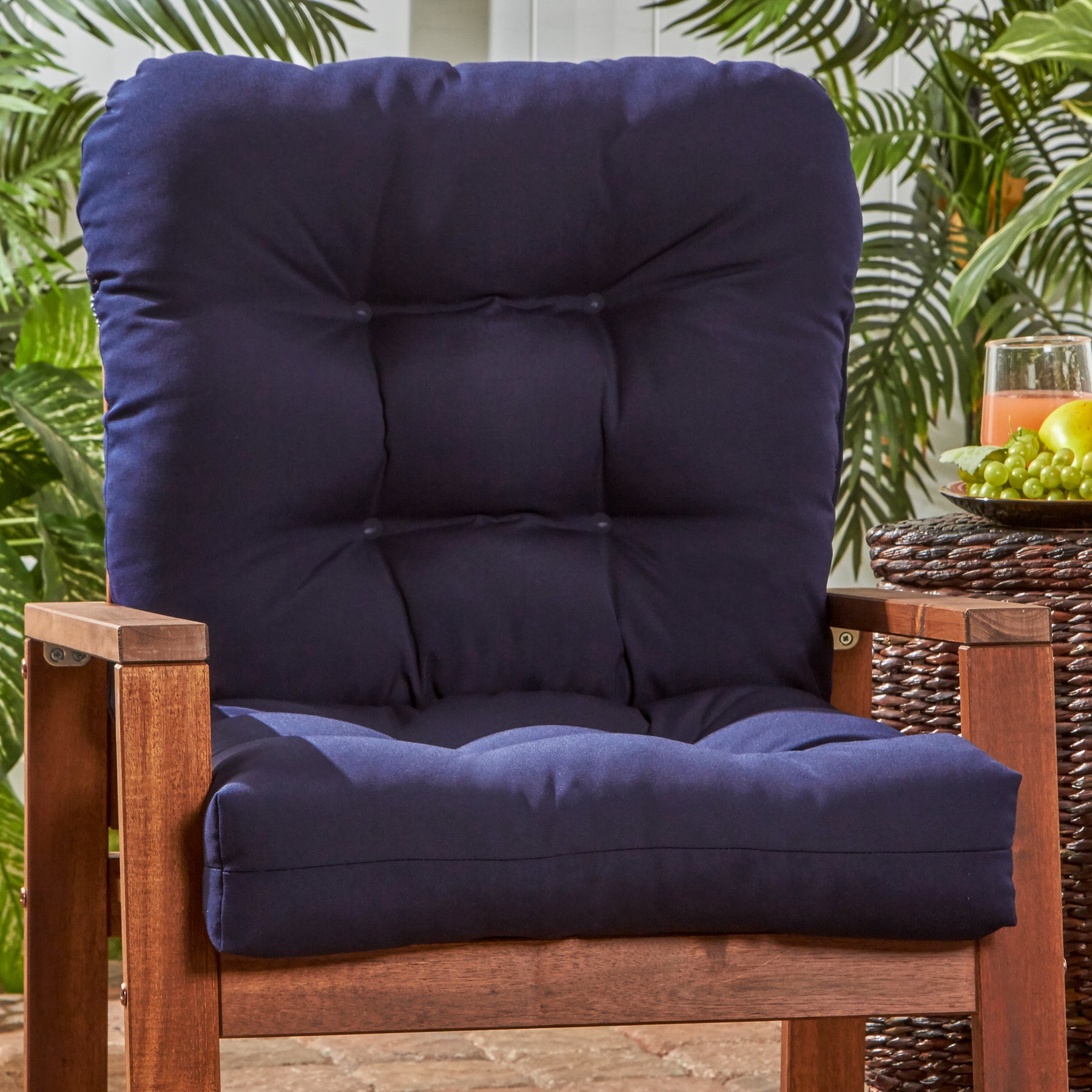 Shop Greendale Home Fashions Outdoor Seat Back Chair Cushion 21w X