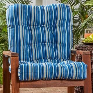 Outdoor Seat/Back Chair Cushion in Coastal Stripe